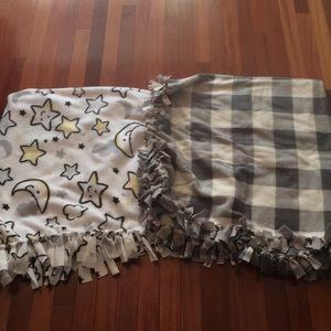 Other - 2-handmade fleece throw bundle